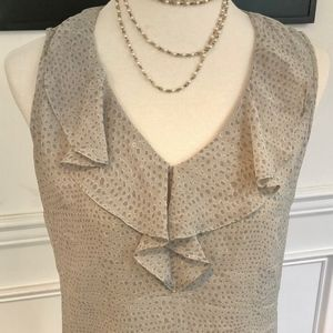 Banana Republic Grey Literature Sleeveless Blouse